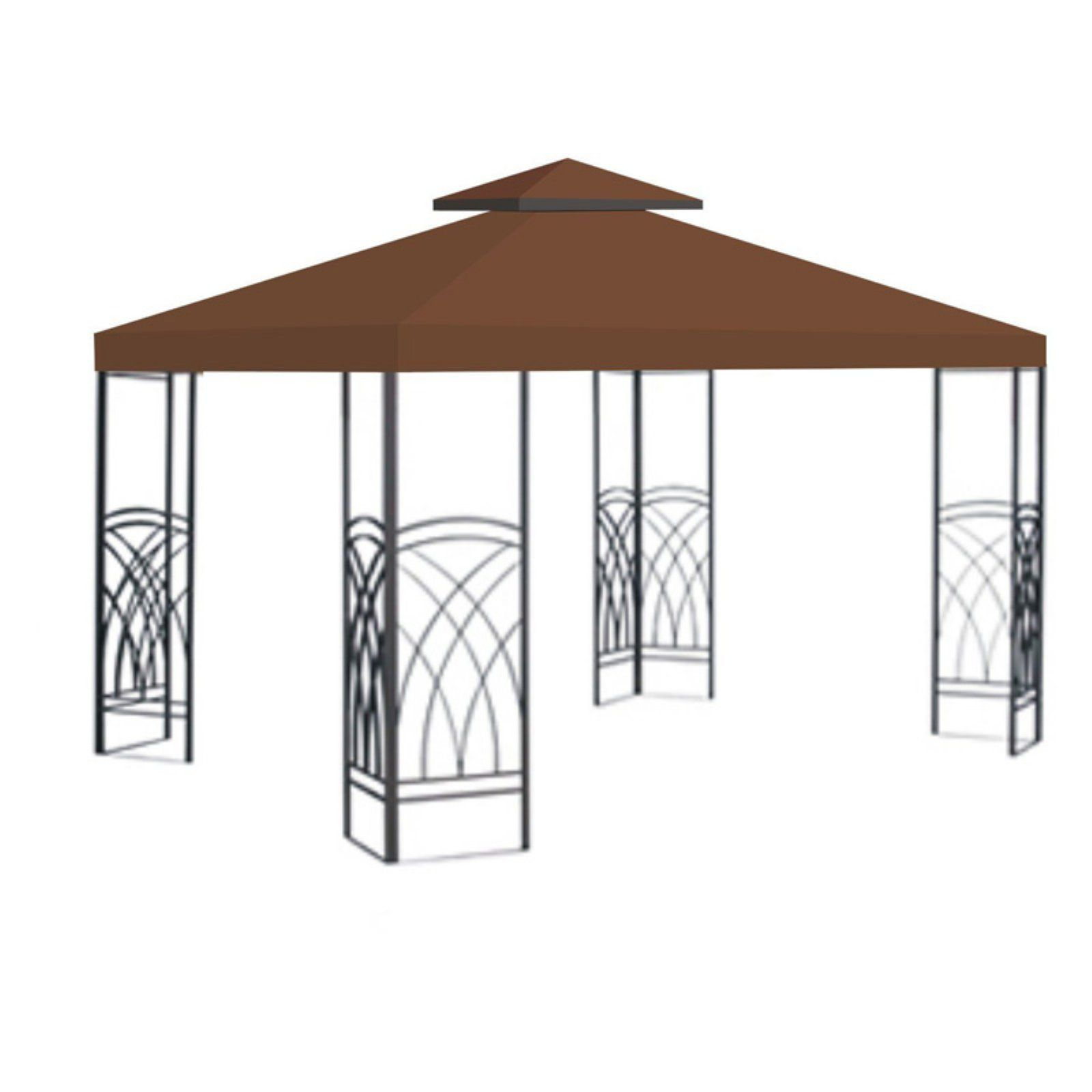 Sunrise 10 X 10 Ft Gazebo Replacement Double Tier Canopy Cover