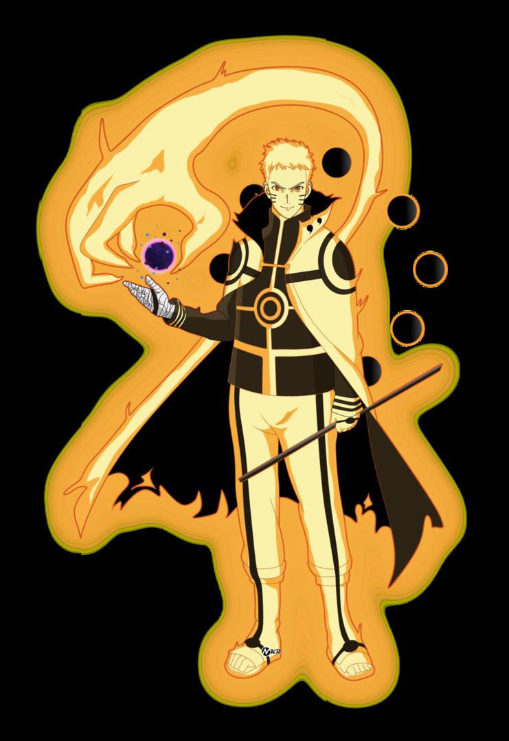 Naruto Hokage Modo Bijuu By Naironkr On Deviantart