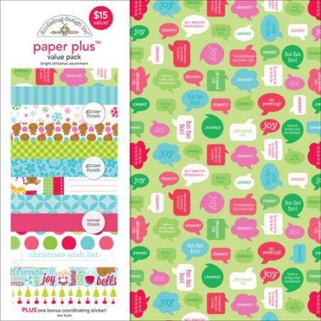 Doodlebug Paper Plus Value Pack, 12 inch x 12 inch, 12pk, Multicolor