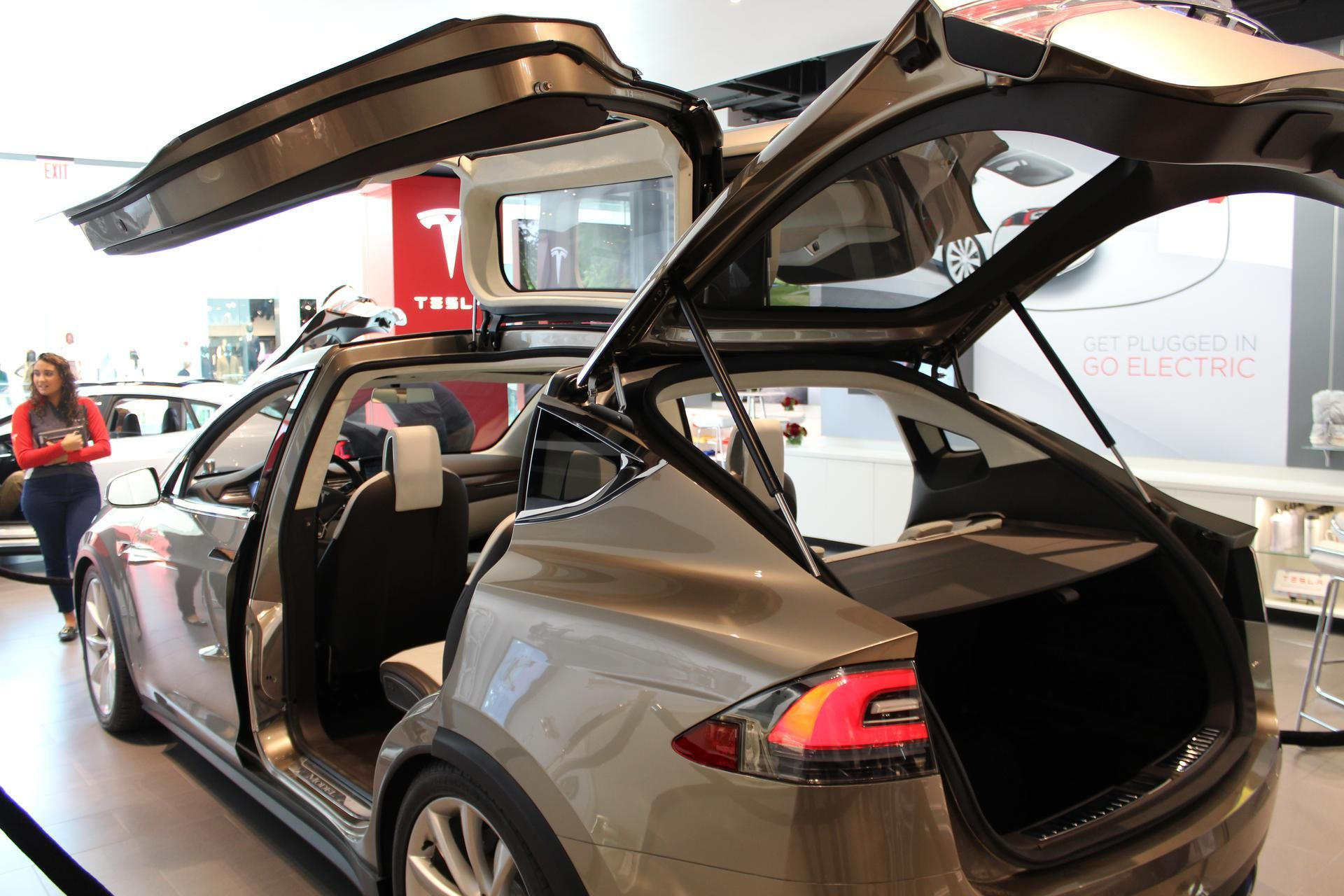 Tesla model s rear facing child seats half folded our tesla model s beauty shots inside pinterest