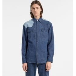 Calvin Klein Zweifarbiges Western Denim Shirt Xxl Calvin Klein #westernoutfits