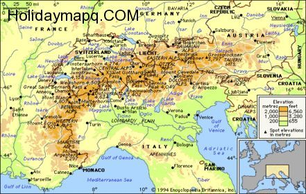 map-of-italy-to-germany-world-maps | Travel | Italy map, Germany ...