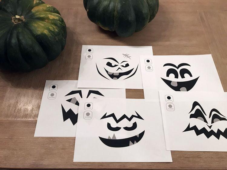 Anleitung Kürbis Schnitzen Kürbis Gesichter Ausdrucken Halloween