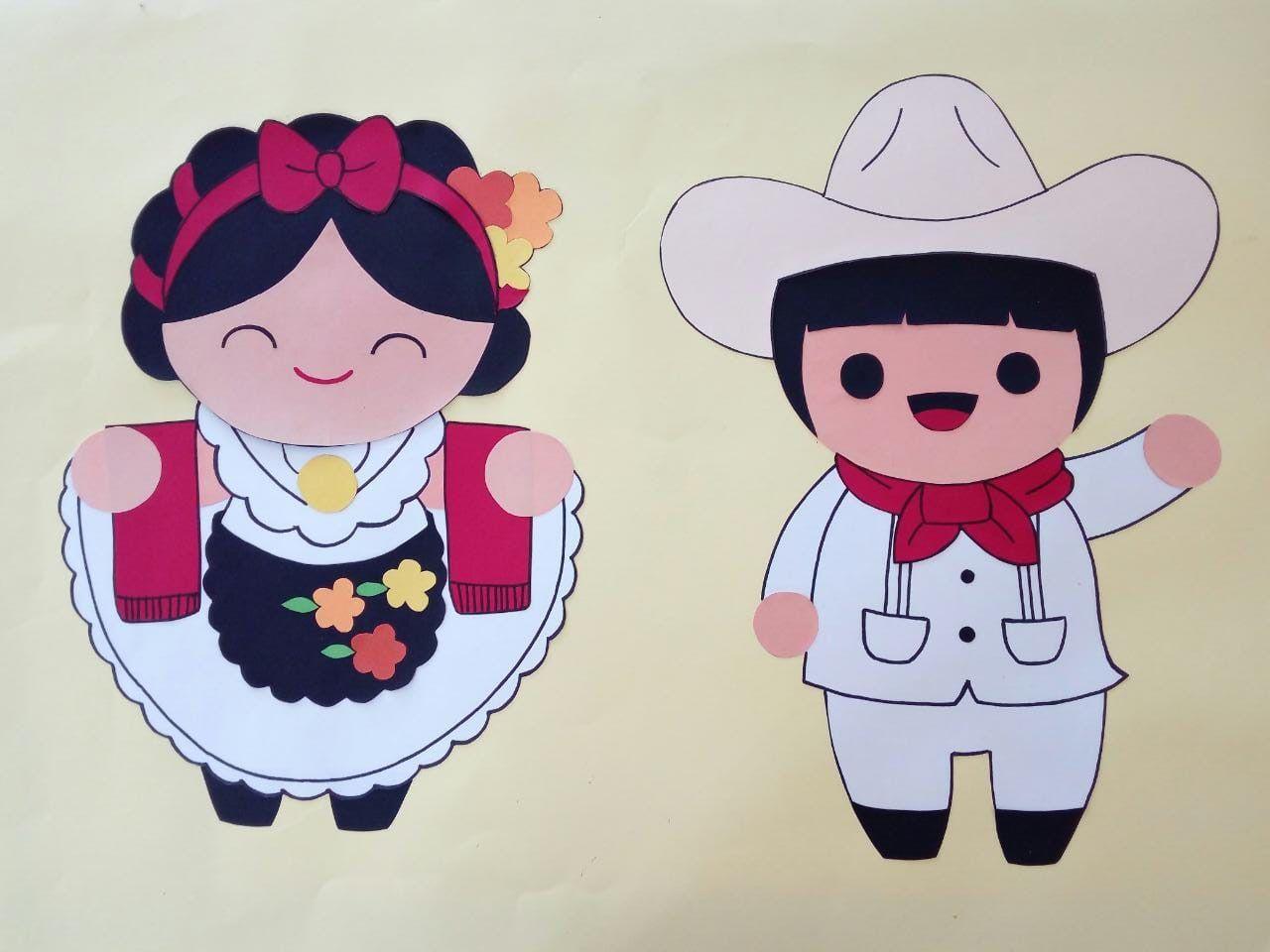 Jarochos Mexicolindo Dibujo Trajes Panchito Eli Veracruz Jarochos Titeres De Guante Dibujos Mexicanos Munecas Mexicanas