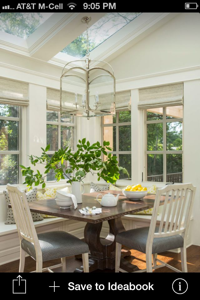 Sunny breakfast nook bump out cape cod style homes for Sunroom breakfast nook