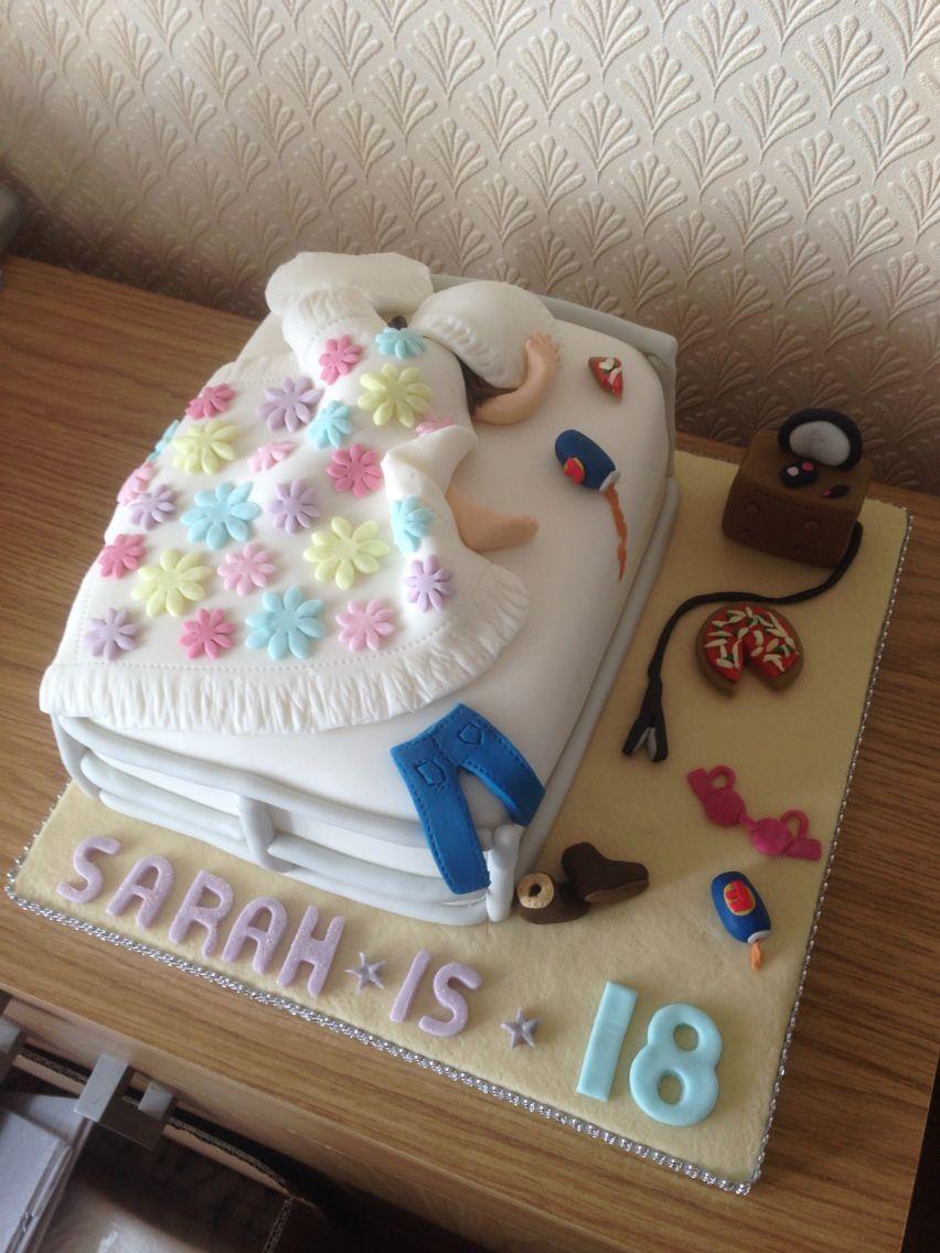 18th messy bed 18th birthday cake for girls birthday