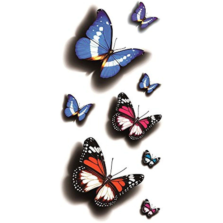 Oottati d assorted morpho nestira monarch butterfly temporary