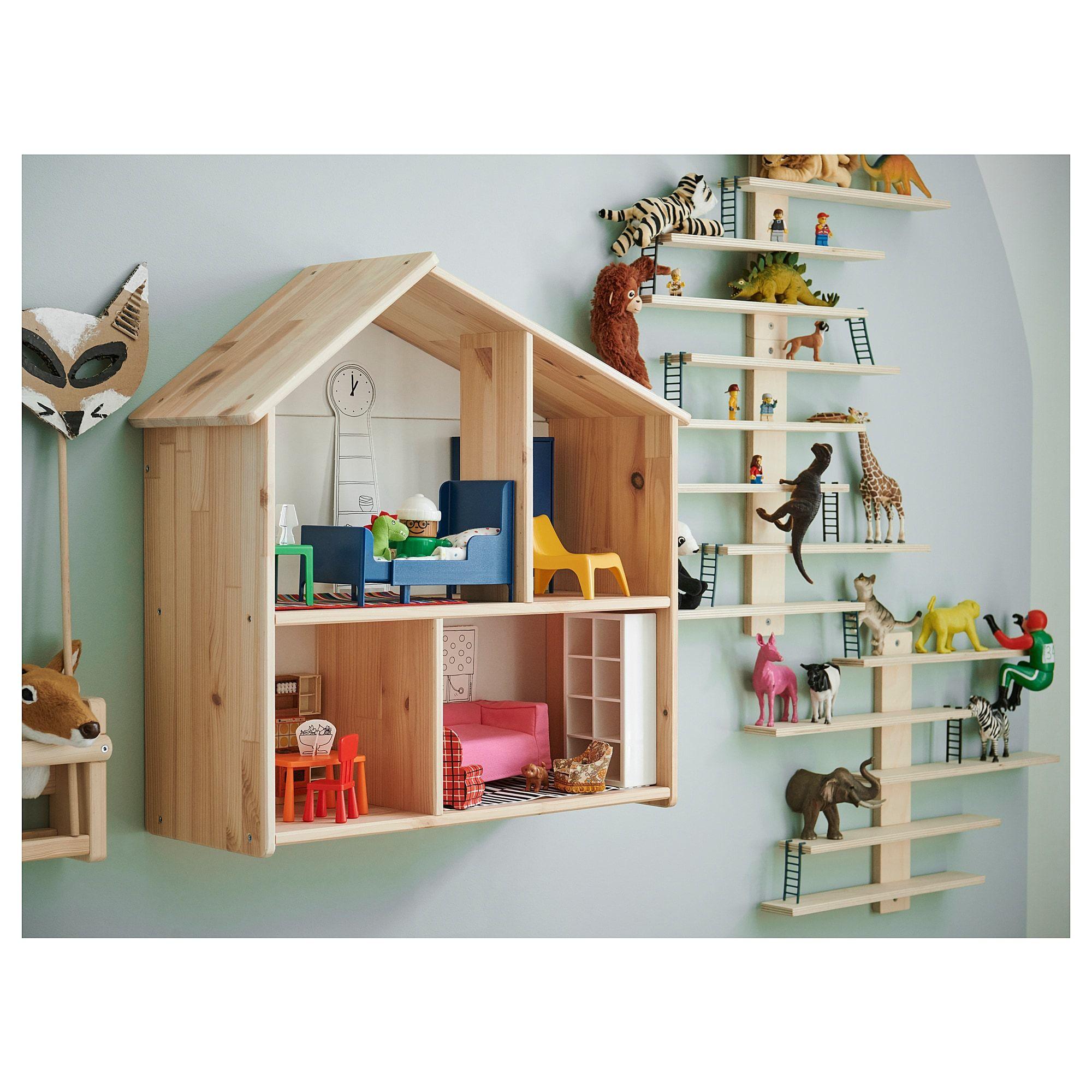 Flisat Puppenhaus Wandregal In 2020 Regalwand Wandregal Ikea