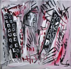 tableau contemporain artiste peintre ame sauvage http://www.amesauvage.com/artiste-peintre-contemporain-2/tous-les-tableaux/quartier-hostile.html