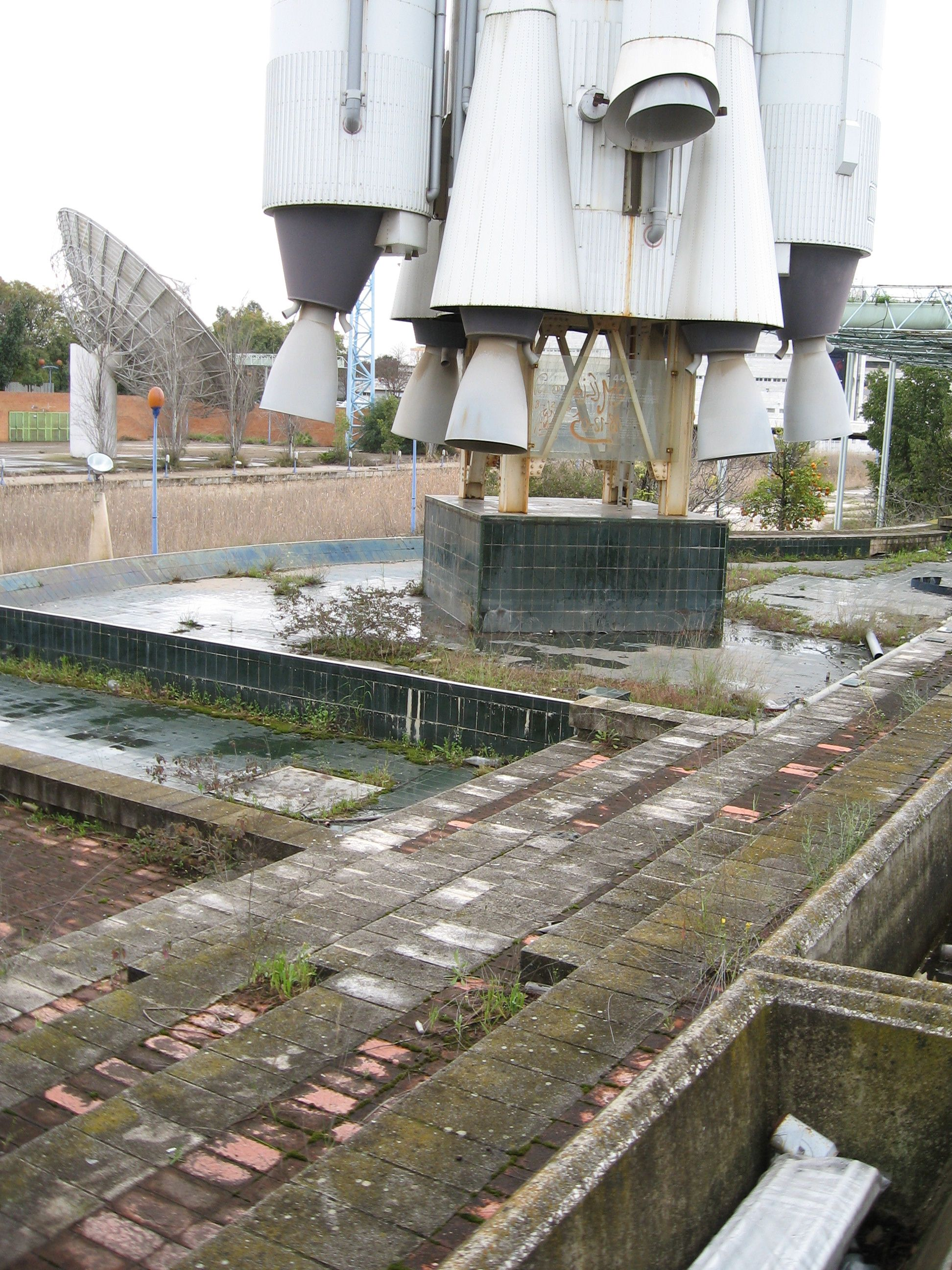 Abandoned World Trade Fair Site Seville Spain
