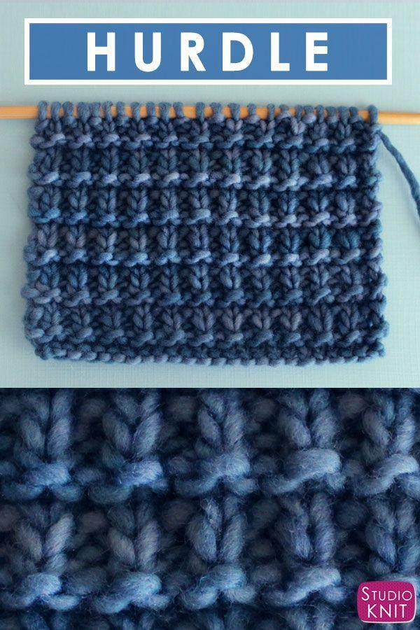 Hurdle Stitch Knitting Pattern for Beginners | Studio Knit