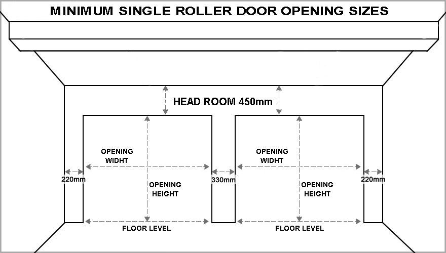 Garage door dimensions for Garage height dimensions