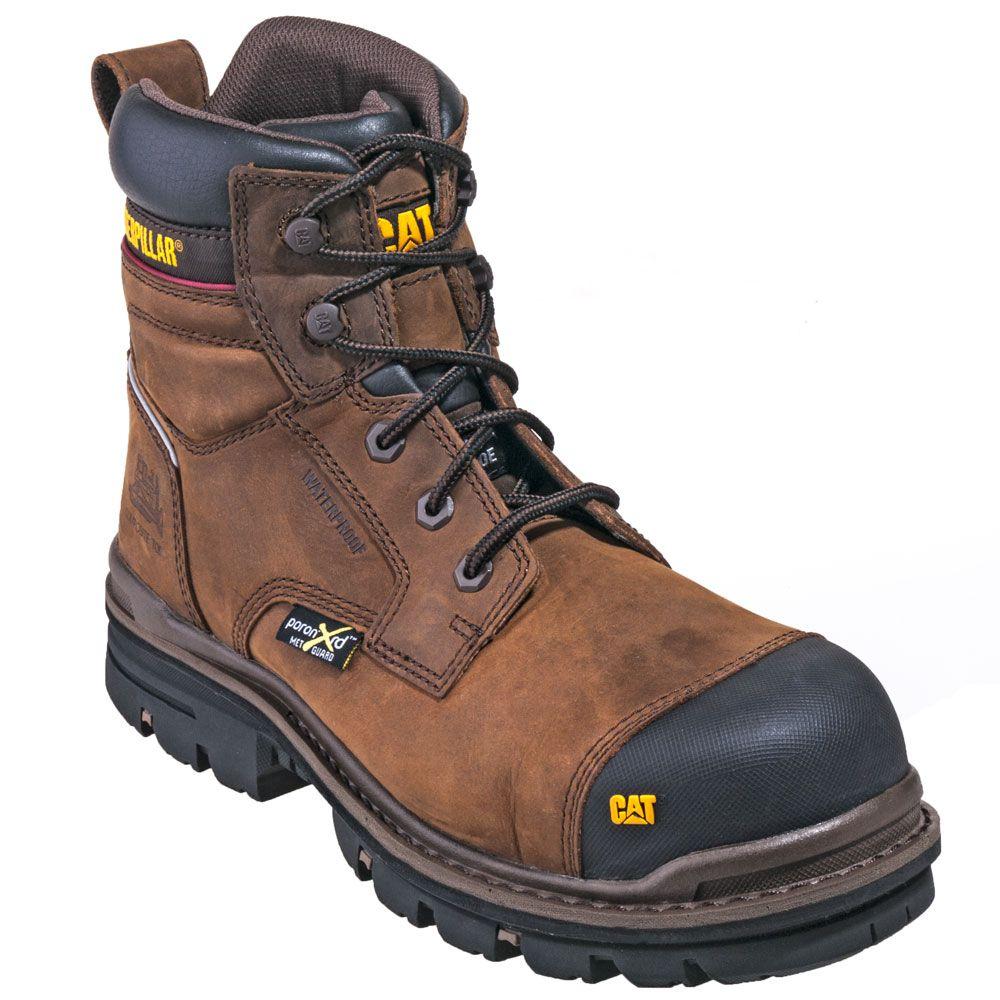 Cat 90541 Caterpillar Boots Men S Brown Met Guard Waterproof Composite Toe Eh Rasp Boots Reviews Botinas Botas