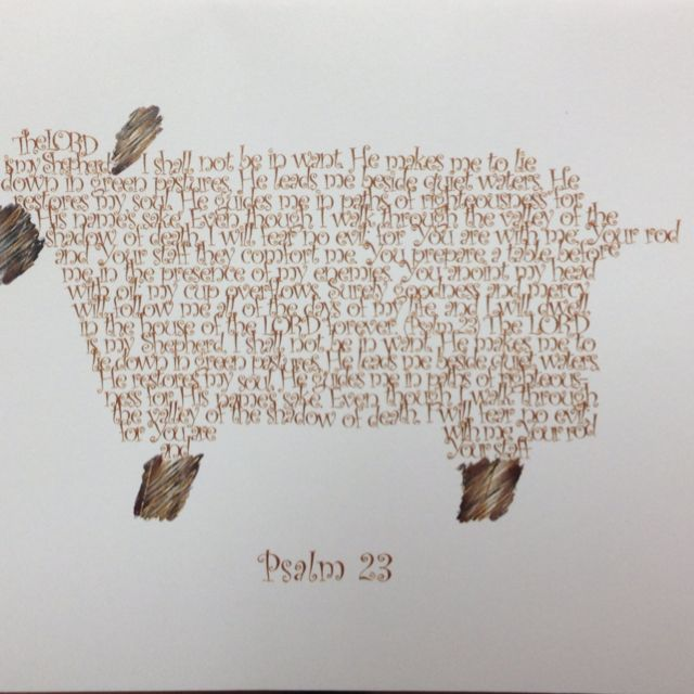 psalm 23 give sheep outline to kids have them write the