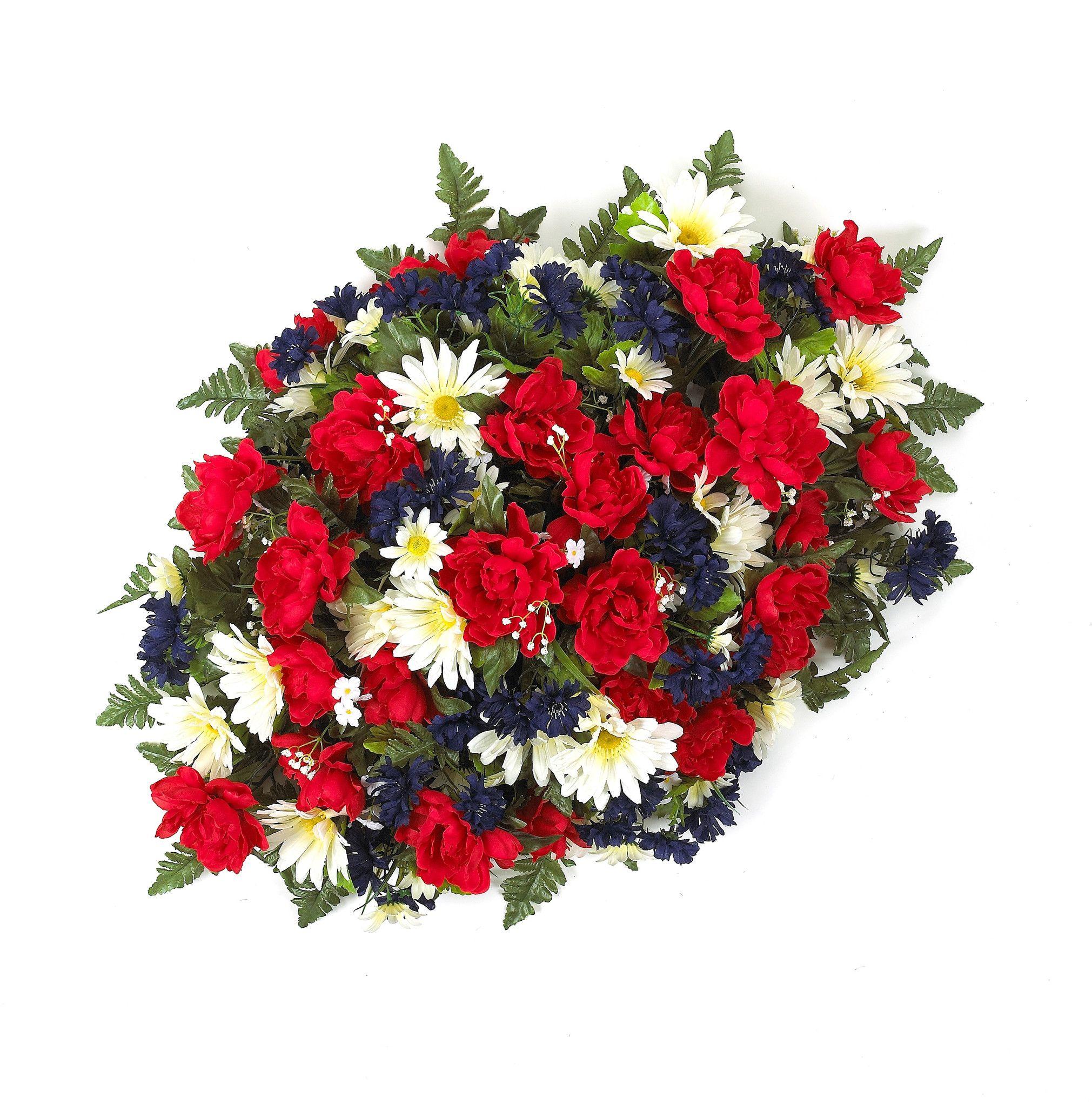 Premium mixed peony headstone spray with redwhiteblue flowers premium mixed peony headstone spray with redwhiteblue flowers izmirmasajfo Gallery