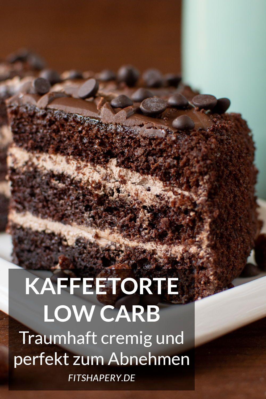 Zuckerfreie Low Carb Torte mit Kaffee