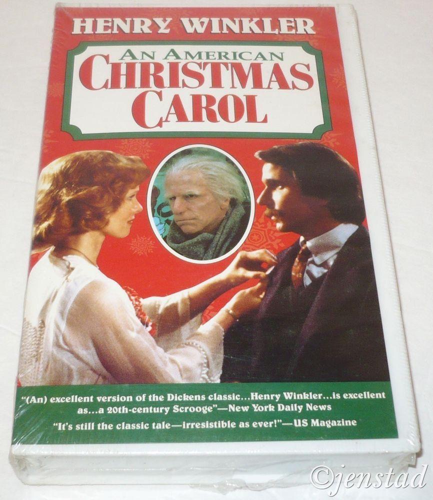 henry winkler an american christmas carol scrooge vhs tape movie holiday film - American Christmas Carol
