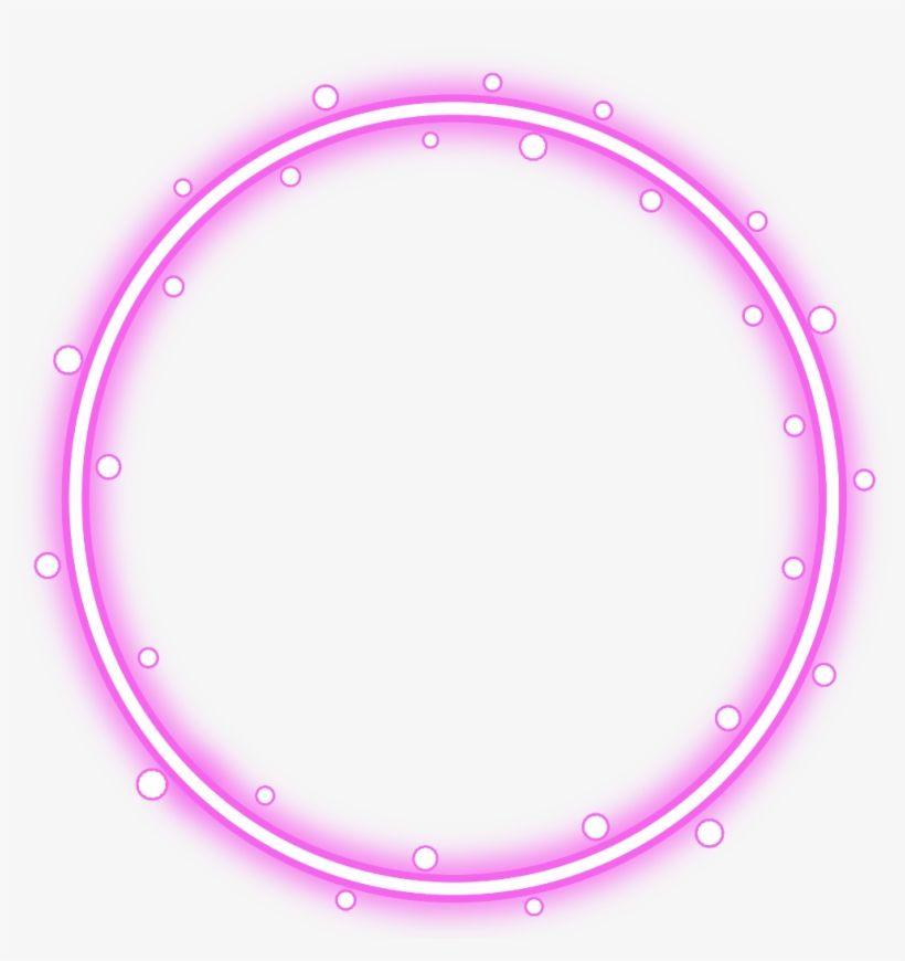 Download Neon Round Pink Freetoedit Circle Frame Border Red Circle Border Transparent Png Image For Circle Borders Clip Art Borders Flower Border Png
