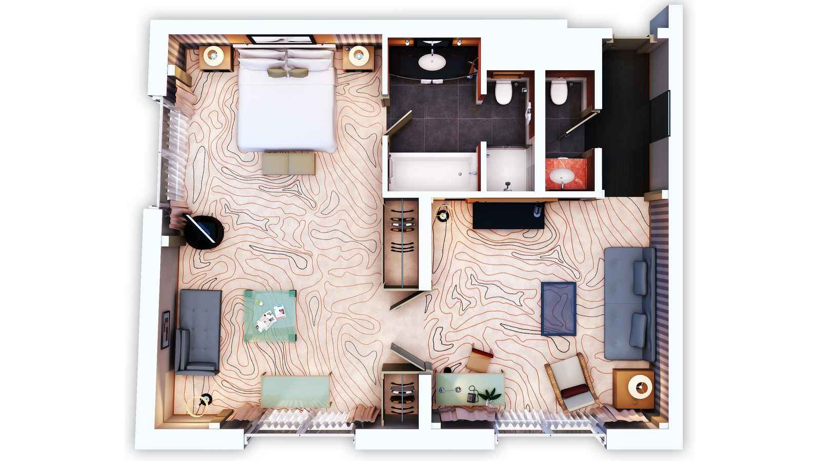 hotel suites floor plans | Feel totally relaxed at Le Méridien. Our ...