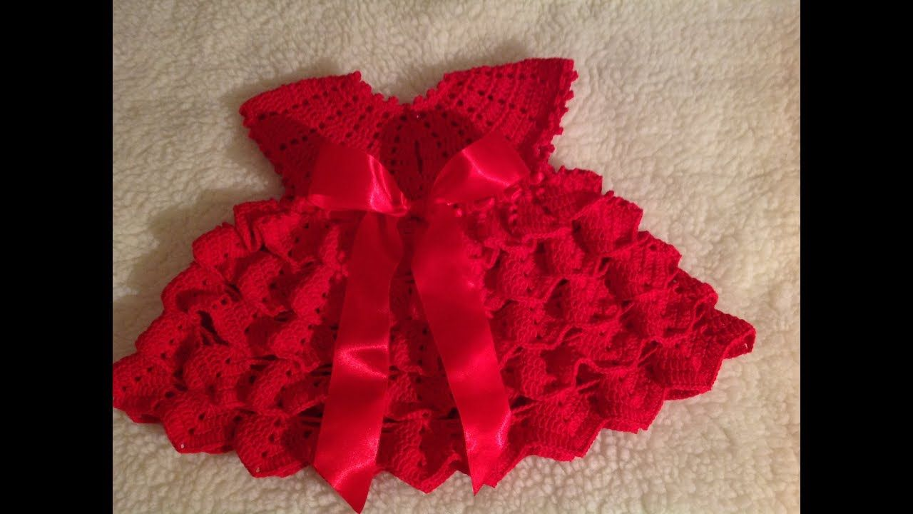 a4f378787 Vestido de crochê tam. 3-6 meses parte 1/2 - YouTube   Crochet Baby ...
