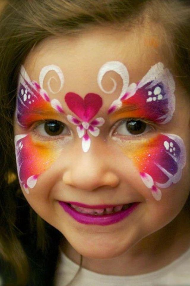 Iris Butterfly Face Paint