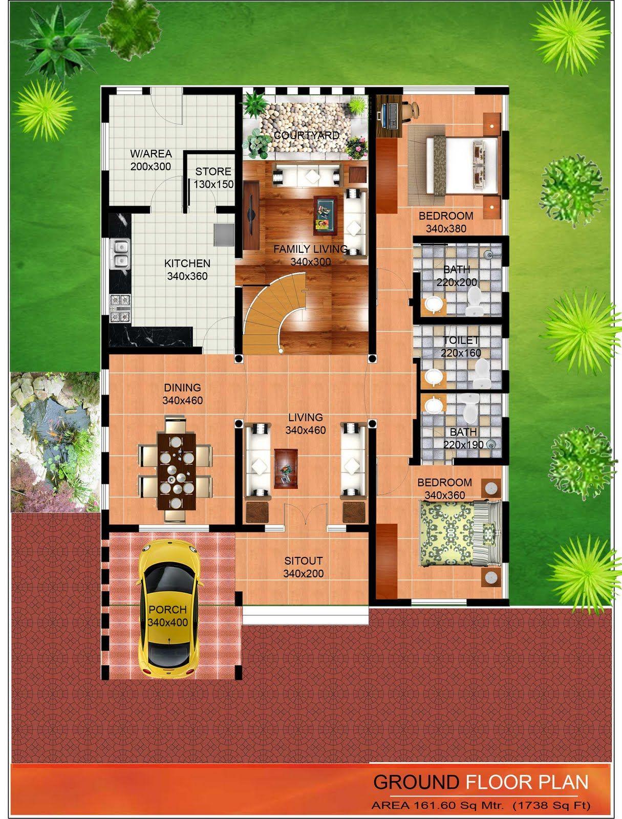 Image Result For 3d House Plans In Kerala House Pinterest