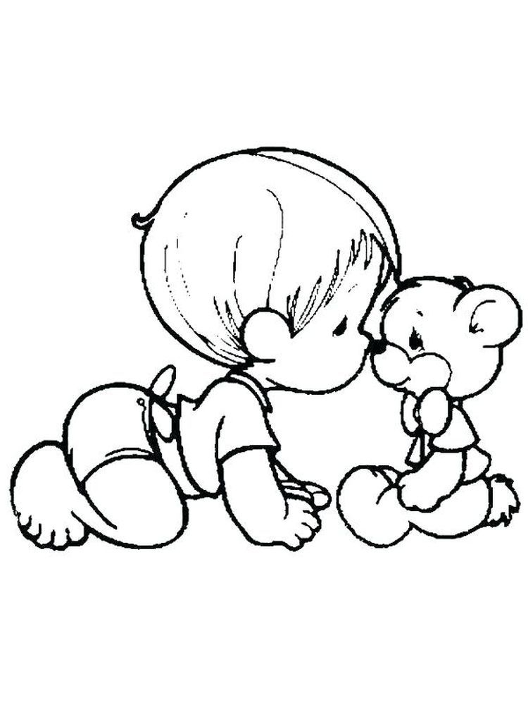 Realistic Baby Coloring Pages Pdf Precious Moments Coloring