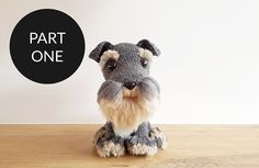 Free crochet pattern for an ultra cute amigurumi dog. Easy to follow, with lots of pictures and a tutorial for making your own fur!