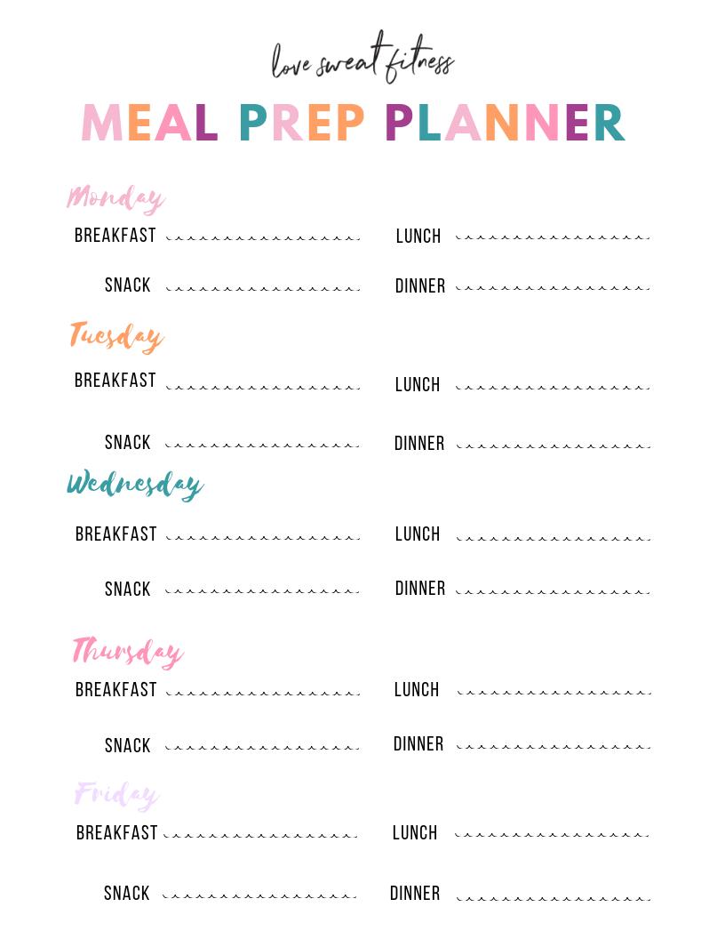 Love Sweat Fitness Love Sweat Fitness Workout Meal Plan Workout Diet Plan