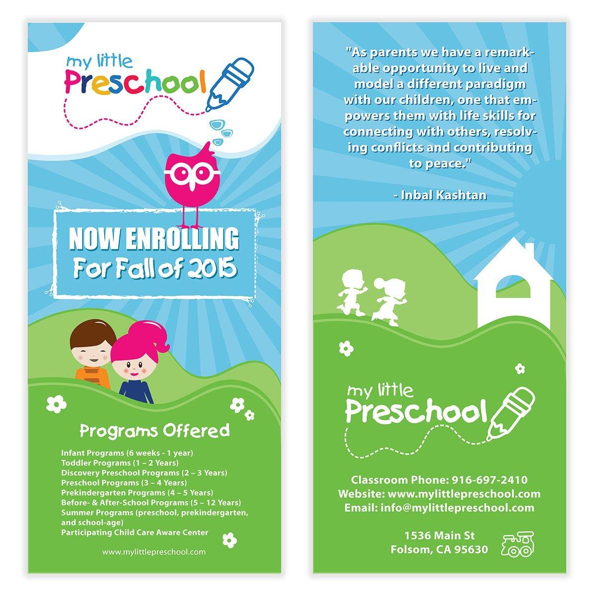 Nursery Book Cover Design : Preschool flyer template poster templates