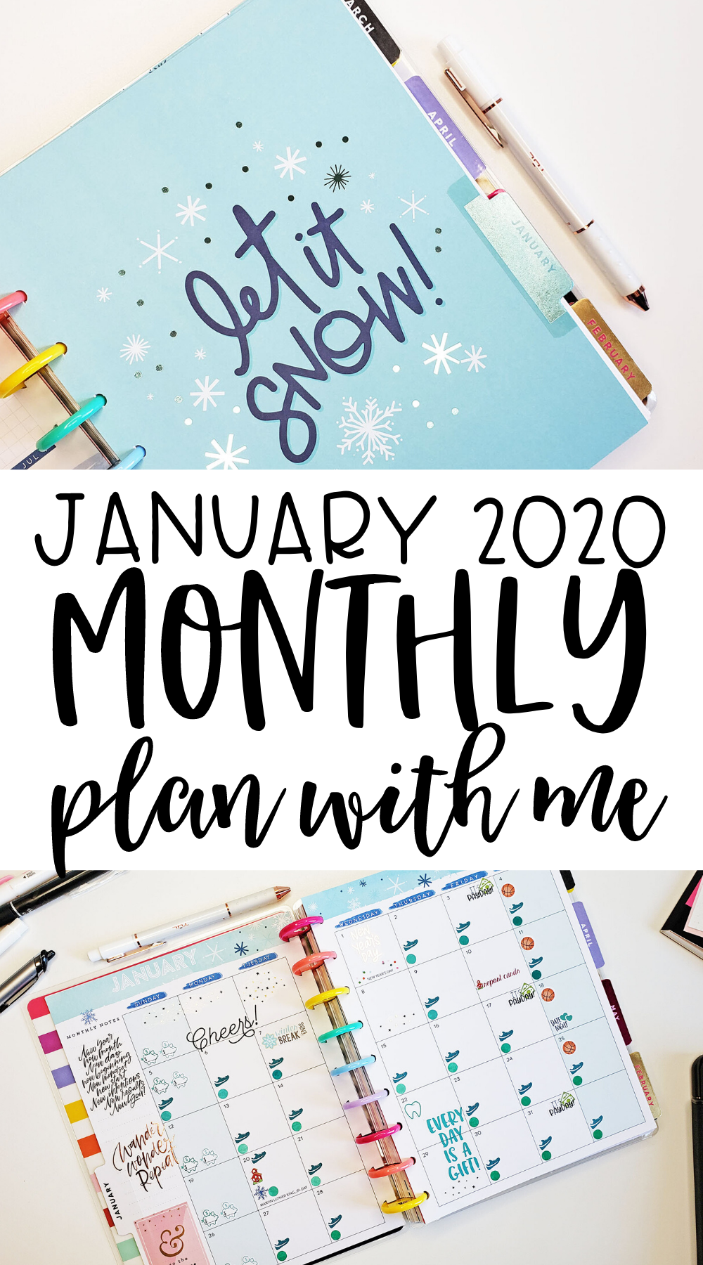 January 2020 Monthly Plan With Me In 2020 Happy Planner
