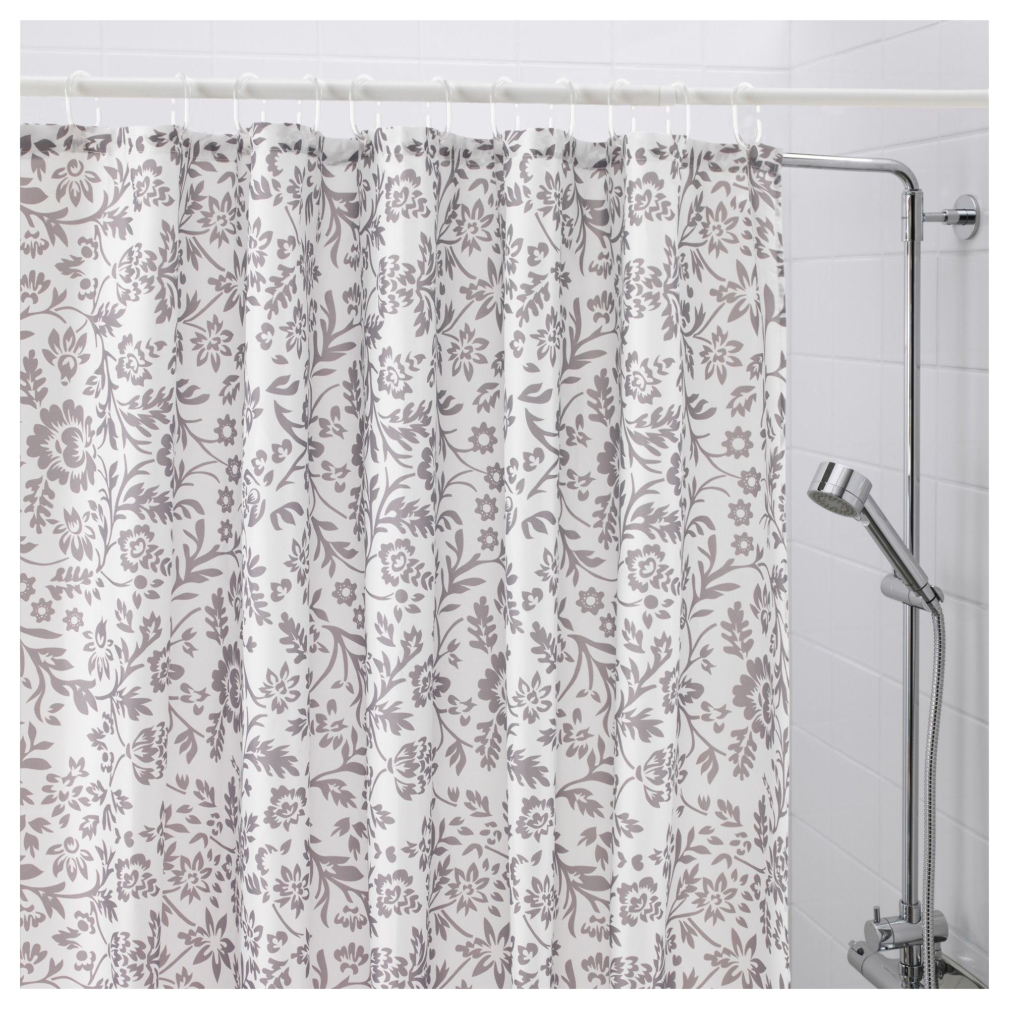 Blekviva Shower Curtain White Gray Ikea White Shower Curtain Shower Curtain Curtains