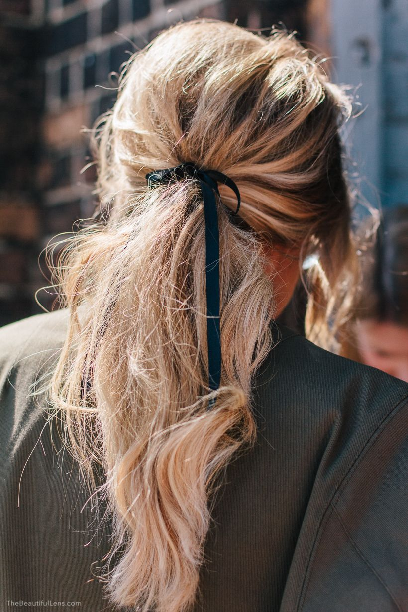 Frankly... is this NOT the most perfect ponytail in the world ever?!? Elle Ferguson from They All Hate Us at Mercedes-Benz Fashion Week 2015. All praise.
