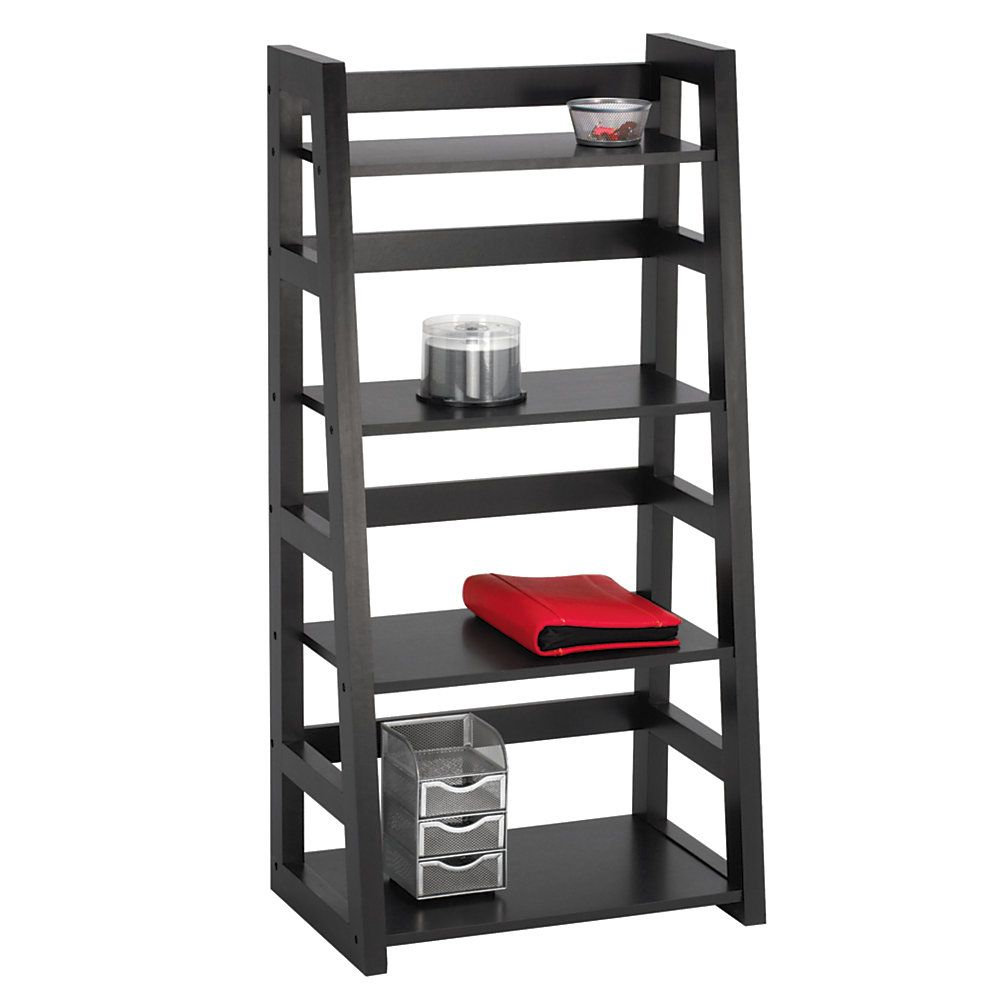 Bon Studio Donovan Student Bookcase 4 Shelf Black By Office Depot Officemax