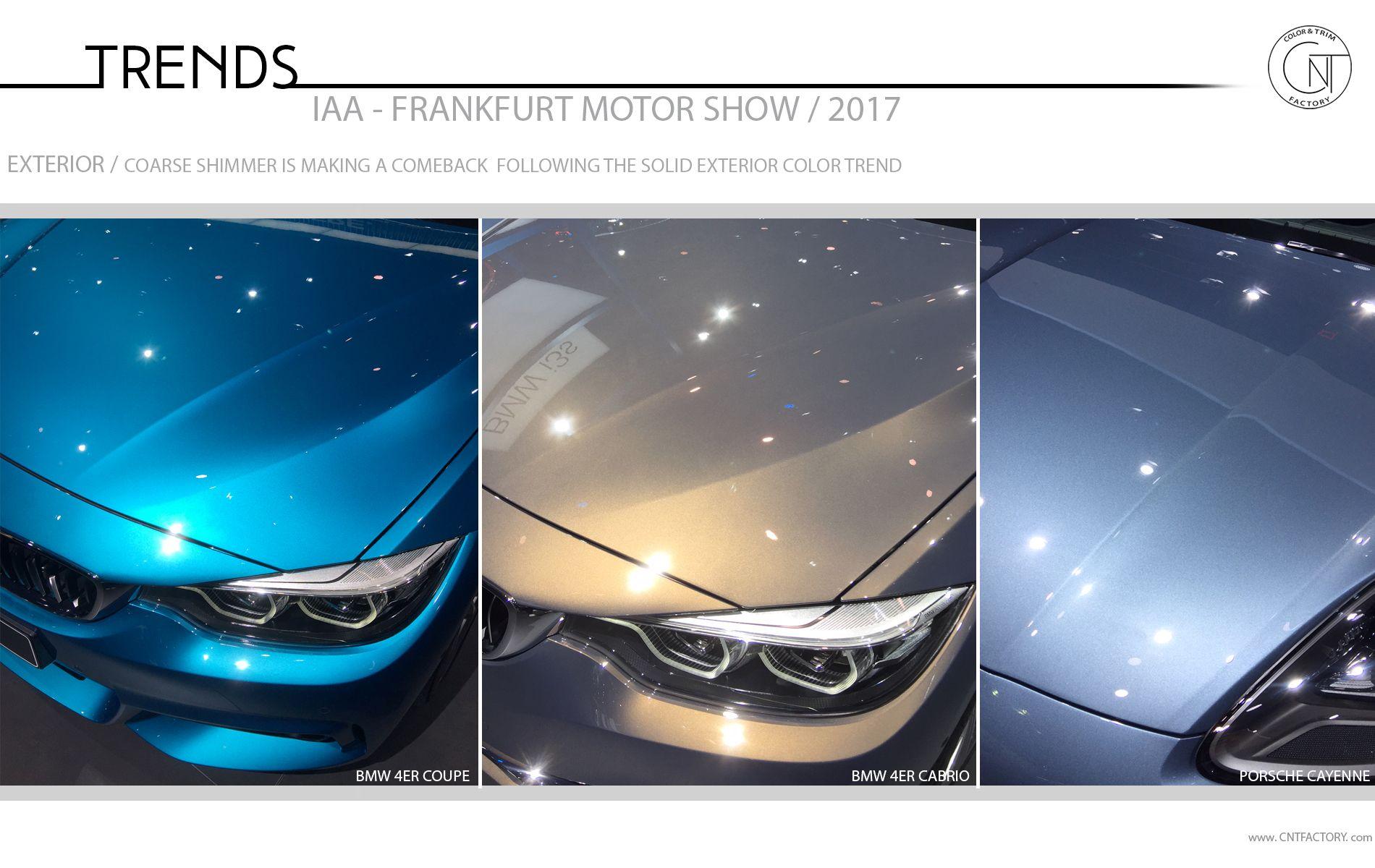 2017 Frankfurt Motor Show Color Trim Trends Automotive Design Automotive Design Color Trends 2018 Color