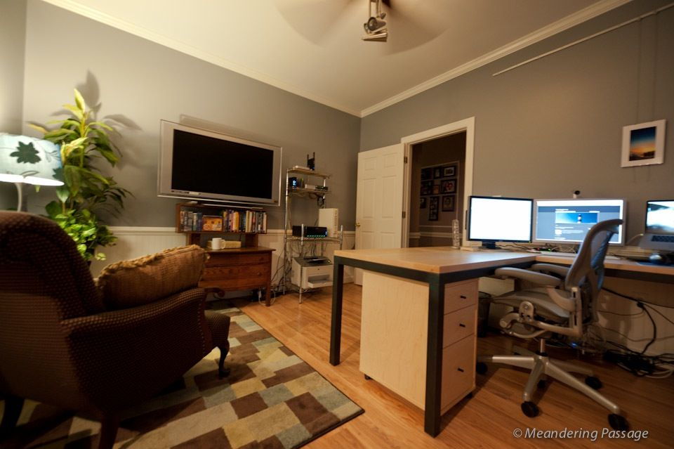 Man Cave Office Desk : Love desk for dave s man cave office no tv but seating
