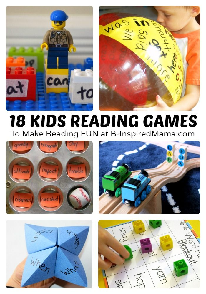 18 Fun Kids Reading Games and Activities | school | Reading ...