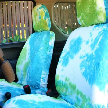 Car seat covers for adult car seat, white blue green tie dye, free ...