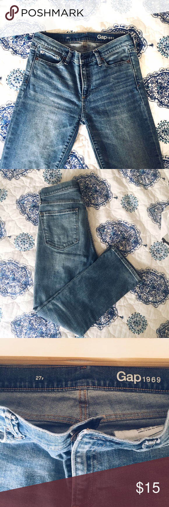 GAP MID/HIGH-WASTED Worn once. No flaws. Mid/High-wasted. Very flattering. Gap Pants Ankle & Cropped