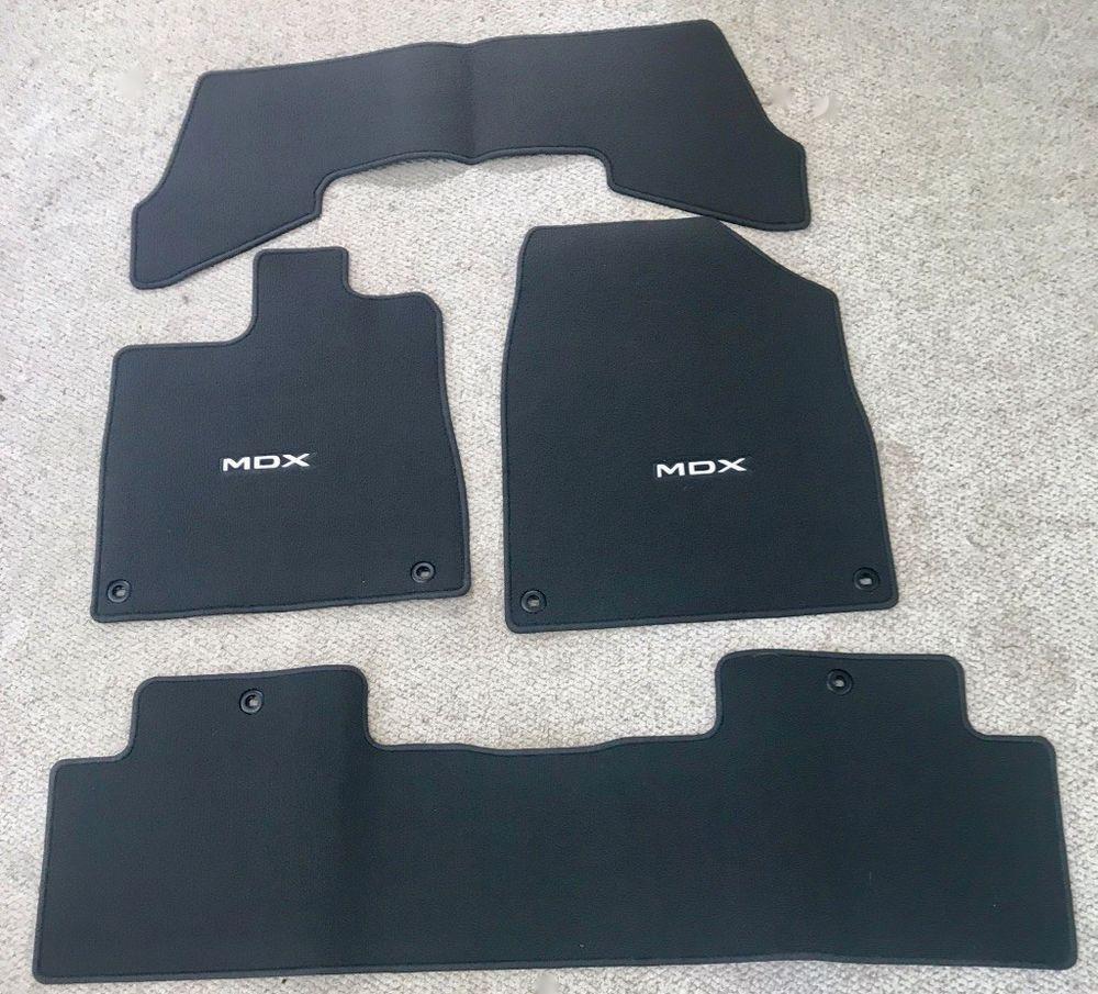 OEM 2010-2013 Acura MDX Premium Black 4-Pc Carpet Floor