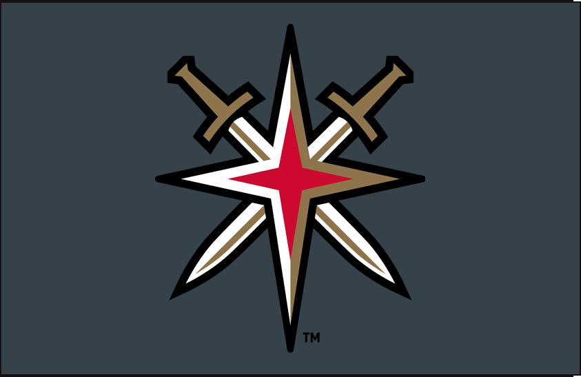 Vegas Golden Knights Logo | Vegas Golden Knights Alternate on Dark Logo (2018) - Vegas Golden ...