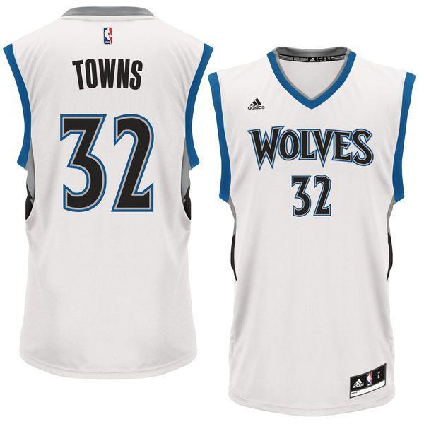 big sale 2a463 2160d Karl-Anthony Towns Minnesota Timberwolves adidas Replica ...