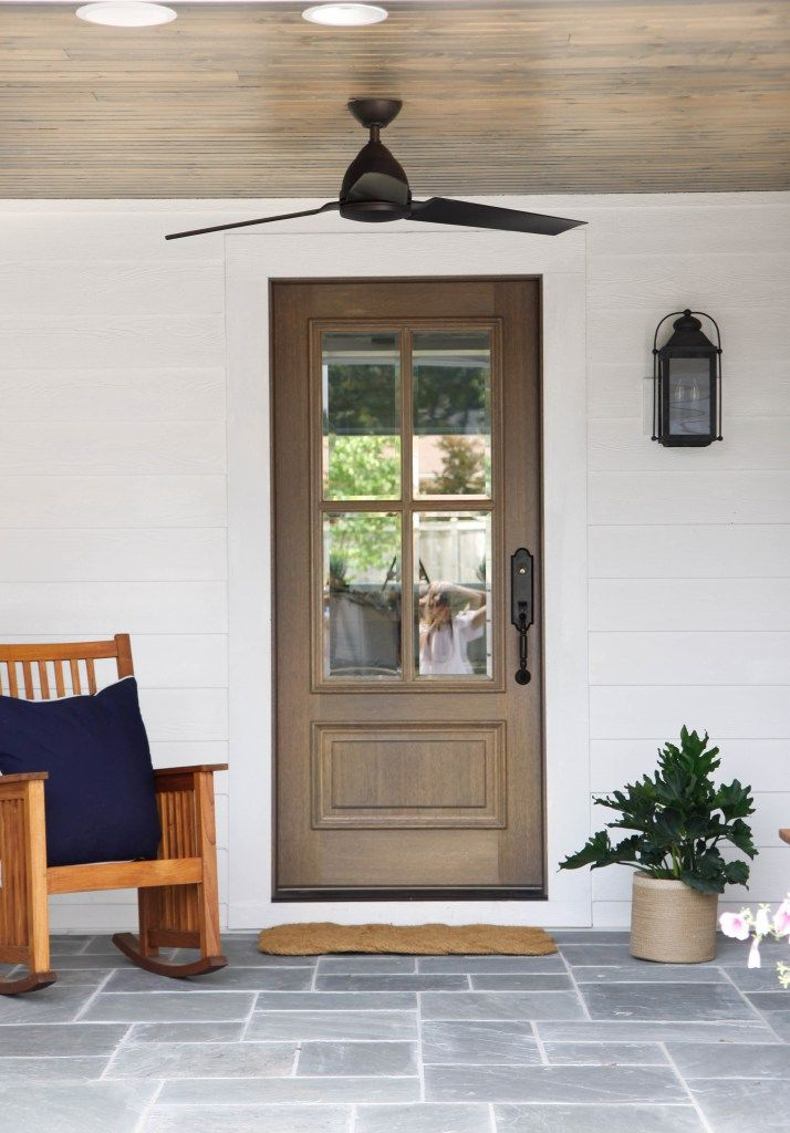 Side Entry House with porch, Simple porch designs