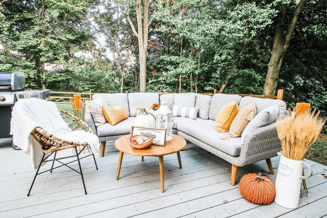 In a patch of orange pumpkins, be the white pumpkin...or the orange braided pumpkin...or a bundle of wheat...(ie. stay weird and wonderful, friends) . . . . . . . . . #autumndecor #patiodecor #pumpkinseason #rusticdecor #rusticstyle #greydecor #backyardoasis #outdoorliving #countryhome #rusticinteriors #countrydecor #moderncountry #goldaccents #article #teak #decorinspo #decorlovers #falldecor #fallcolors #elegantdecor #autumnvibes #octobervibes #naturaldecor #pumpkindecorating #homegoodshappy #