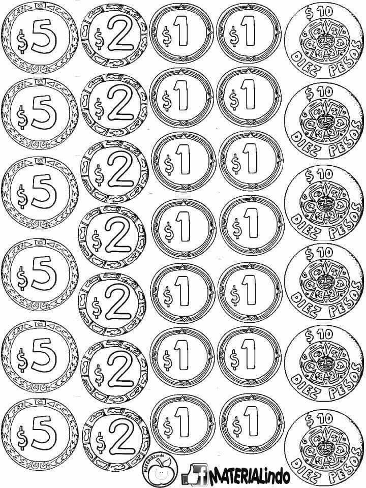 Monedas Educación Pinterest Preescolar, Actividades y Escuela