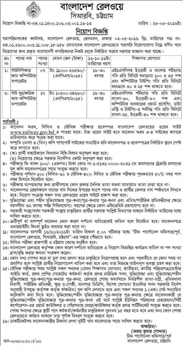 Bangladesh Railway Job Circular Job Circular Pinterest Job - architect job description