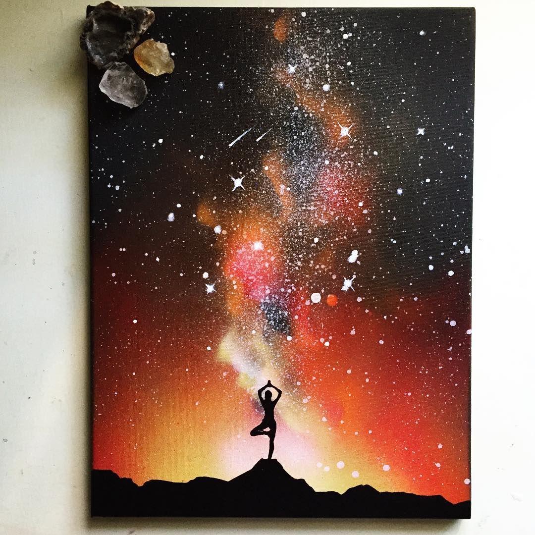 Galaksi ve Gökyüzünün Sonsuzluğunu Musmutlu Bir Hikaye ile Tamamlayan Sanatçı #artanddrawing