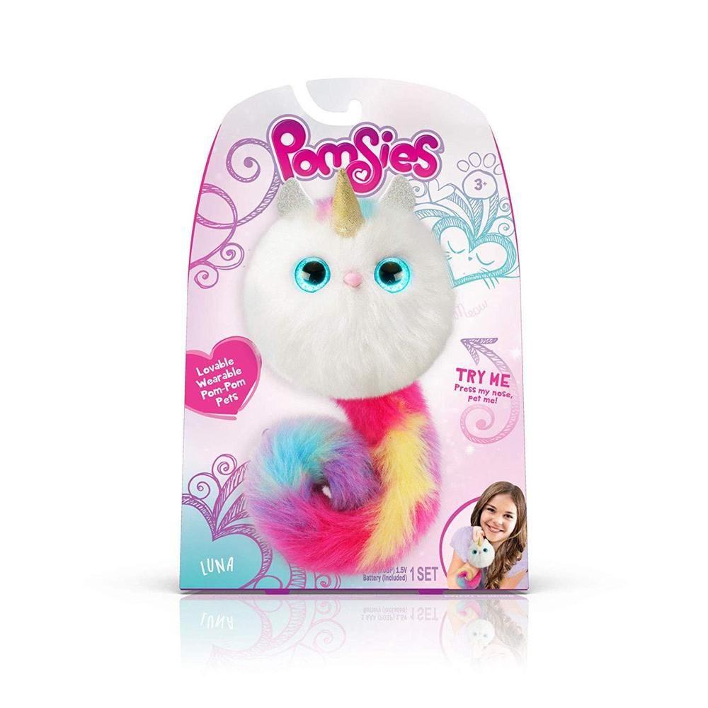 Nib Pomsies Sydney Plush Interactive Toy Wearable Pom-pom Pets Light Up Great Varieties Electronic & Interactive Other Interactive Toys