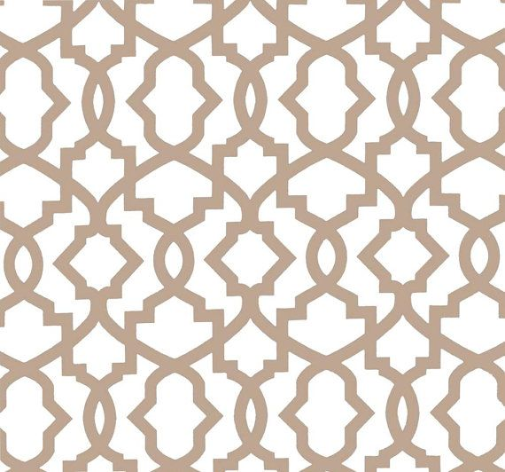 Modern Geometric Neutral Home Decor Fabric By The Yard, Designer