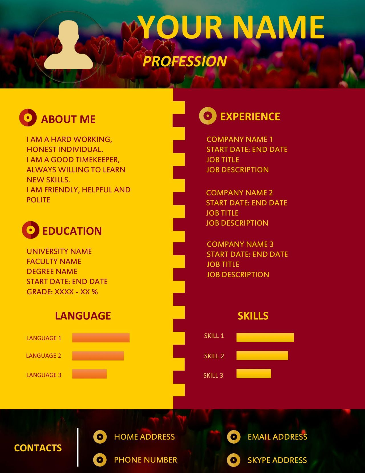 Show Your Traditional Work Experience With A Non Traditional Resume Design Resume Design Resume Design Professional Marketing Jobs
